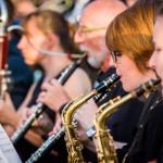 Konzert der Osnabrücker Bläserphilharmonie im Innenhof des Schlosses Gesmold in Melle © Detlef Heese